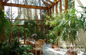 Wintergarten Holz Alu Pflanzen Glashaus Licht