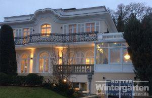 Wintergarten Holz Alu Beleuchtung LED Lampen
