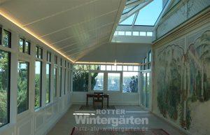 Wintergarten Holz Alu Beleuchtung innen LED Lampen