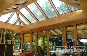 Wintergarten Holz Alu Sonnenschutzglas Beschattung