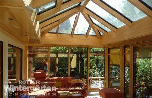 Wintergarten Holz Alu Orangerie Sonnenschutzglas