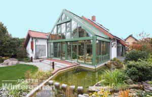 Wintergarten Holz Alu Glashaus zweigeschossig