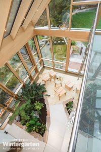 Wintergarten Holz Alu Glashaus Galerie zweigeschossig