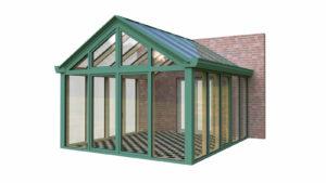Wintergarten Holz Aluminium Satteldach