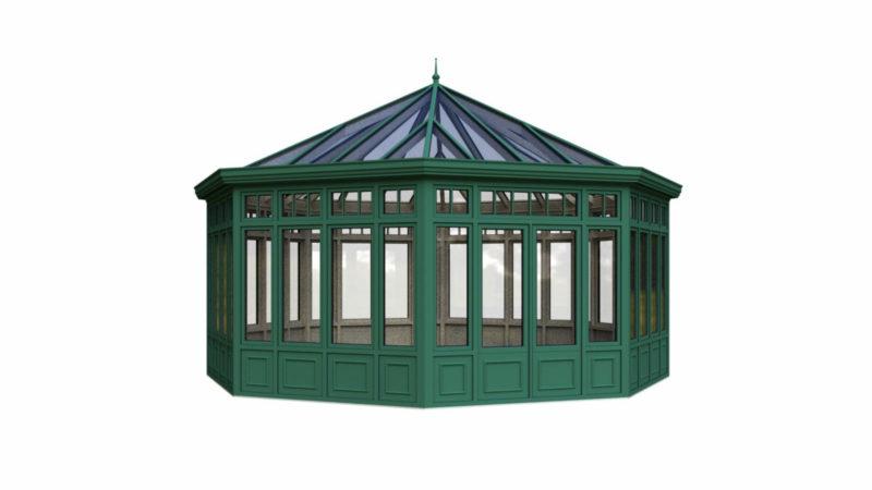 Wintergarten Holz Aluminium Pavillon