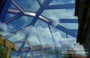 Wintergarten Holz Alu Walmdach Glasdach Licht
