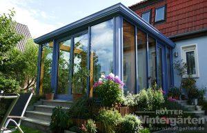 Wintergarten Holz Alu kaufen Sonnenschutzglas