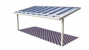 Terrassenüberdachung Holz Aluminium Pultdach Dachüberstand