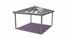 Terrassenüberdachung Holz Aluminium