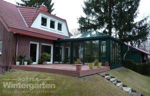Wintergarten Holz Aluminium Terrasse Garten
