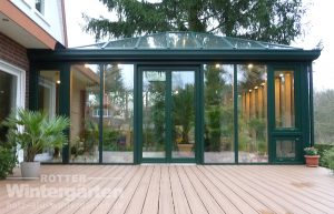 Wintergarten Holz Aluminium Terrasse
